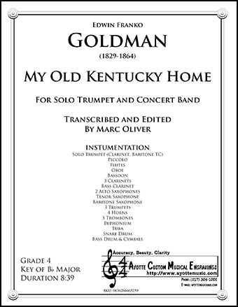 My Old Kentucky Home for Solo Trumpet and Wind Ba | J W  Pepper