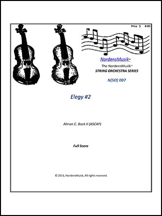 Elegy #2 for String Orchestra
