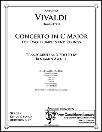Concerto in C for Two Trumpets & Strings, RV 537