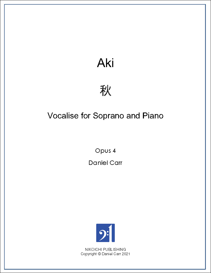 Aki - Vocalise for Soprano and Piano
