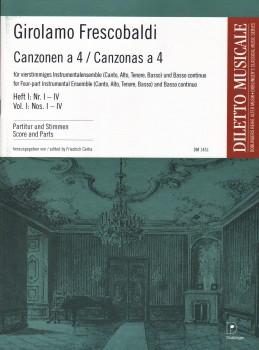 Canzonas a 4, Vol. 1: Nos. I-IV