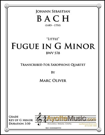 Little Fugue in G Minor, BWV #578