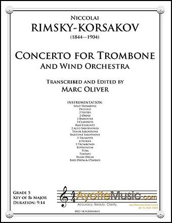 Concerto for Trombone (Trombone Solo ) | J W  Pepper Sheet Music