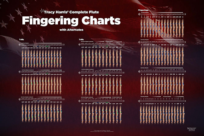 Tracy Harris Flute Fingering and Trill Chart