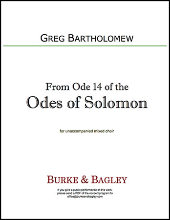 From Ode 14 of the Odes of Solomon