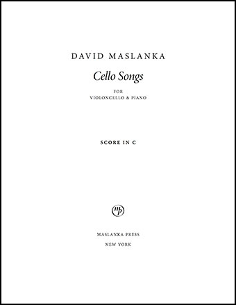 Cello Songs