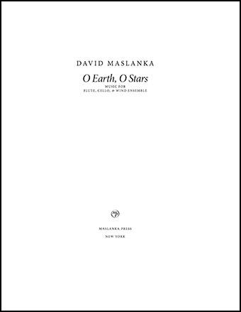 O Earth, O Stars