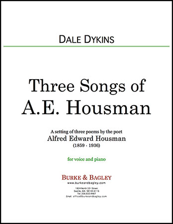 Three Songs of A. E. Housman