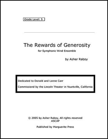 The Rewards of Generosity