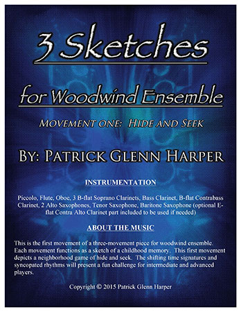 Three Sketches for Woodwind Ensemble - Movement 1