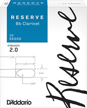 D'Addario Reserve B Flat Clarinet Reeds