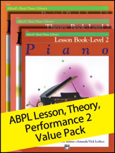 Alfred's Basic Piano Library Lesson, Theory, Recital Level 2