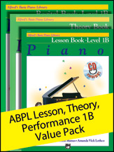 Alfred's Basic Piano Library Lesson, Theory, Recital Level 1B
