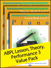 Alfred's Basic Piano Library Lesson, Theory, Recital Level 3