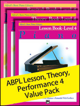 Alfred's Basic Piano Library Lesson, Theory, Recital Level 4