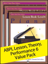 Alfred's Basic Piano Library Lesson, Theory, Recital Level 6