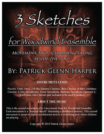 Three Sketches for Woodwind Ensemble - Movement 2