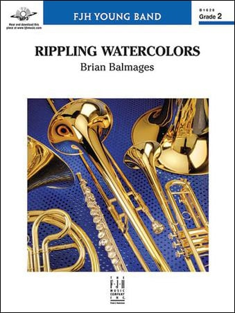 Rippling Watercolors choral sheet music cover