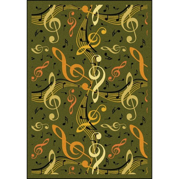 Virtuoso Musical Themed Rug