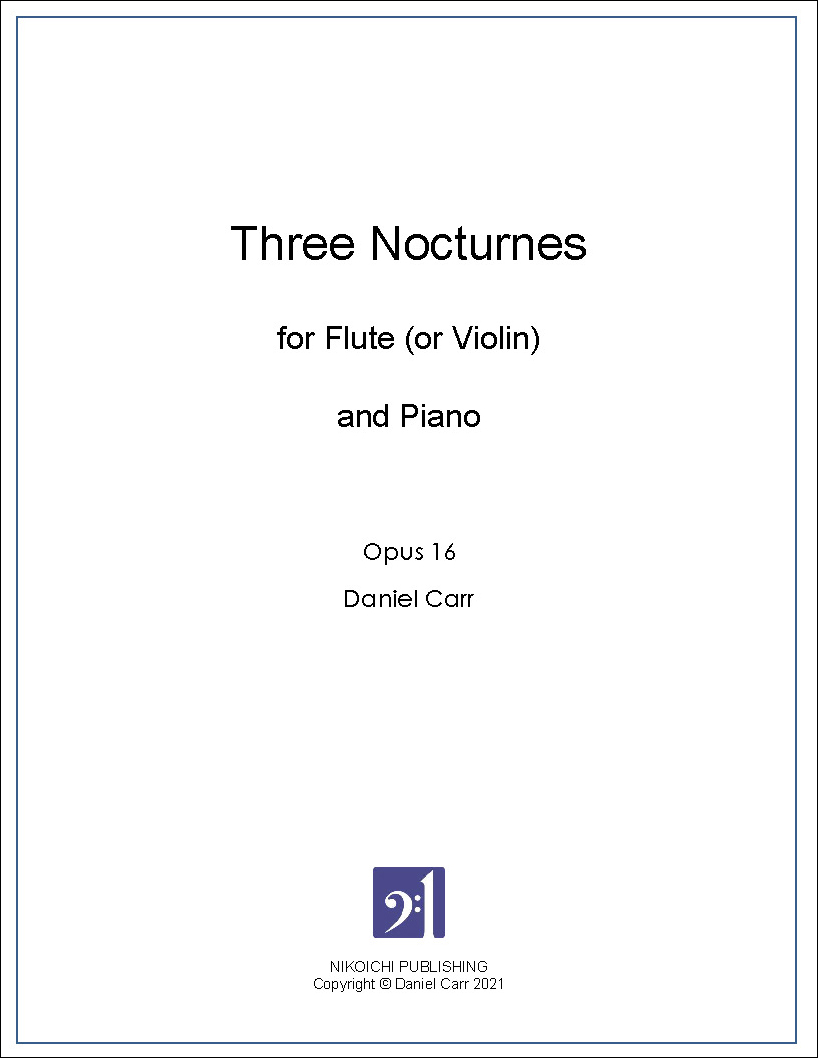 Three Nocturnes for Flute (or Violin) and Piano