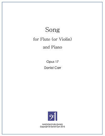 Song for Flute (Violin) and Piano