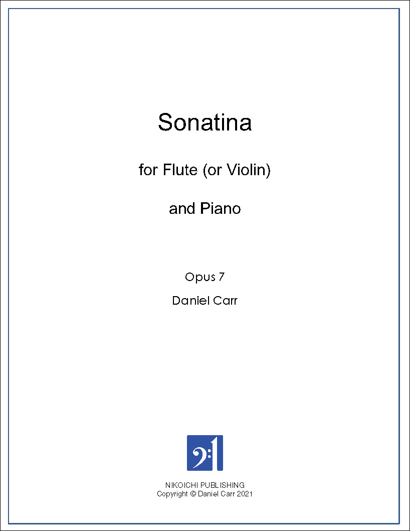 Sonatina for Flute (Violin) And Piano