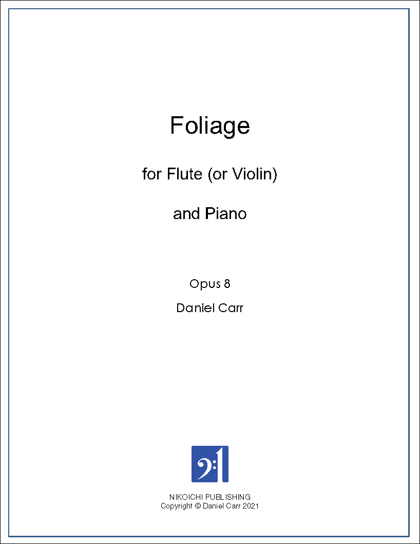 Foliage for Flute (Violin) and Piano