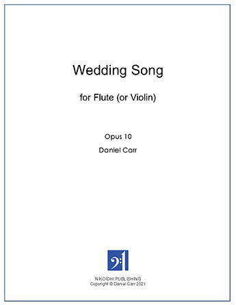 Wedding Song for Solo Flute (Violin)