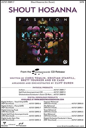 Shout Hosanna (SATB ) by Chris Tomlin, Krist | J W  Pepper Sheet Music