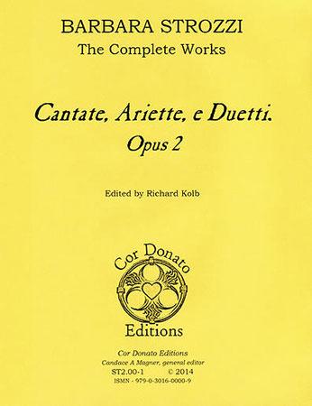 Cantate, Ariette, e Duetti, Op. 2