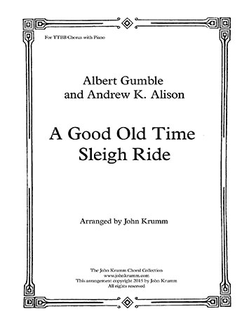 On a Good Old Time Sleigh Ride