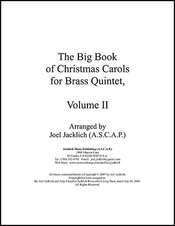 The Big Book of Christmas Carols for Brass Quintet, Vol. 2