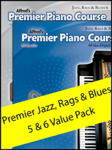 Alfred's Premier Piano Course: Jazz Rags and Blues, Levels 5 & 6