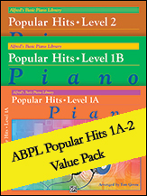 Alfred's Basic Piano Library: Popular Hits, Levels 1A, 1B and 2