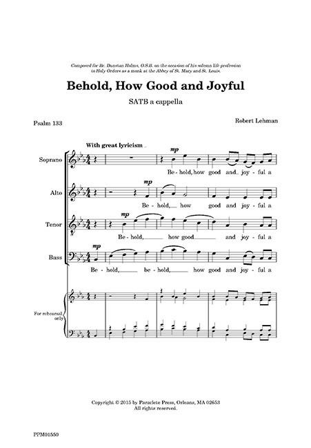 Behold, How Good and Joyful