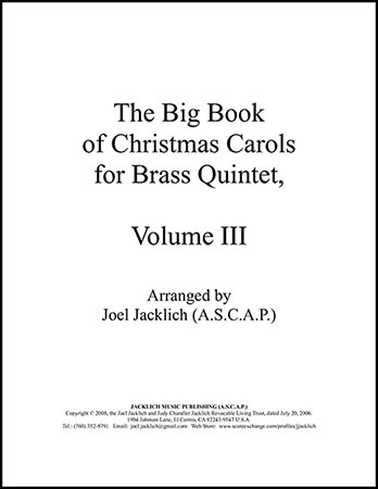 The Big Book of Christmas Carols for Brass Quintet, Vol. 3