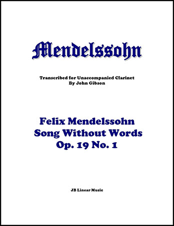 Song Without Words for Solo Clarinet