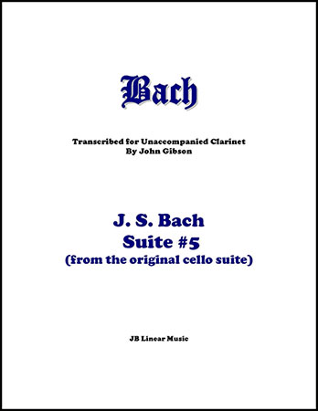 Suite #5 set for Solo Clarinet