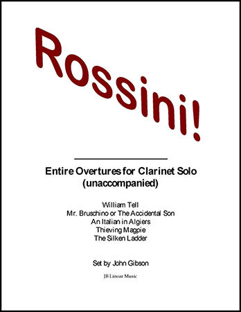 Rossini Overtures for Solo Clarinet