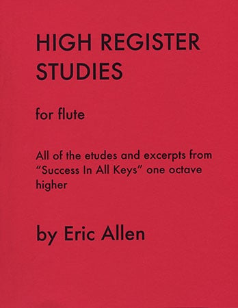 High Register Studies for Flute