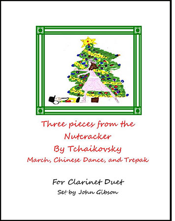 3 Pieces from The Nutcracker - clarinet duet