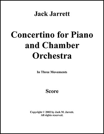 Concertino for Piano and Chamber Orchestra