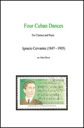 Four Cuban Dances for Clarinet and Piano