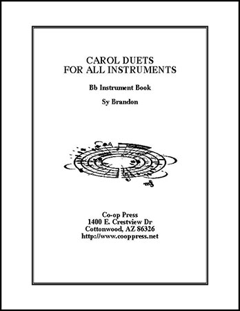 carol duets for all instruments Bb book