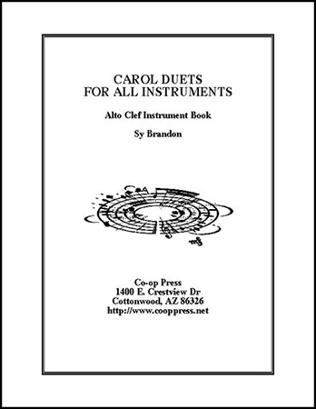 carol duets for all instruments Alto Clef book