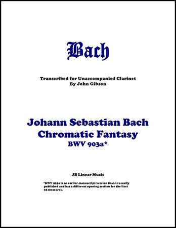 Chromatic Fantasy for Solo Clarinet