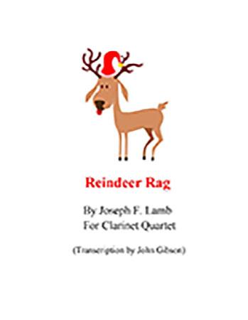 Reindeer Rag for Clarinet Quartet