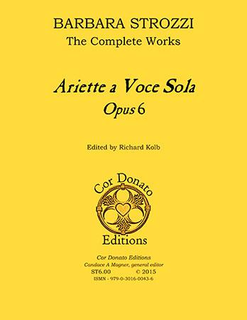 Ariette a Voce Sola, Op. 6