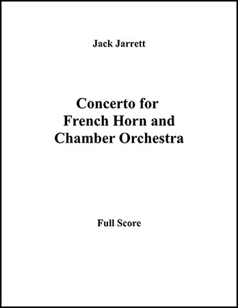 Concerto for French Horn and Chamber Orchestra