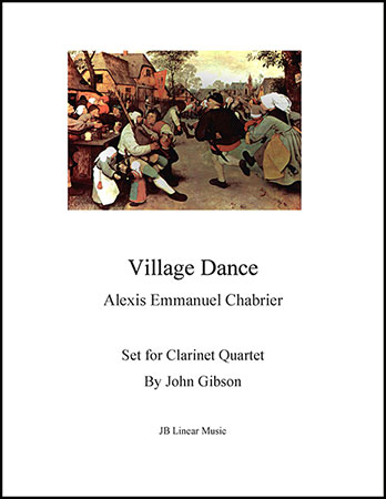 Chabrier - Village Dance for clarinet quartet